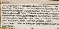 Knusper Müsli - Ingrédients - de