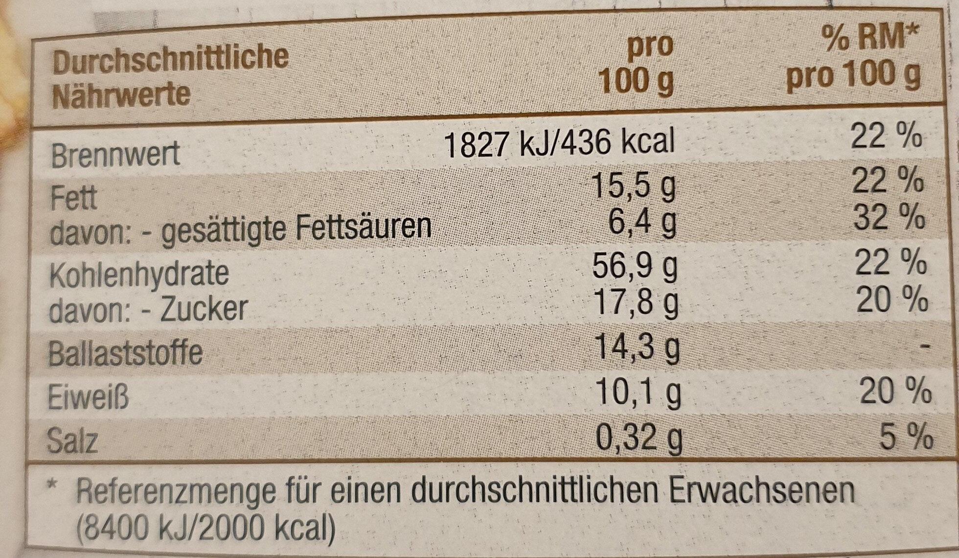 Knusper Müsli - Informations nutritionnelles - de