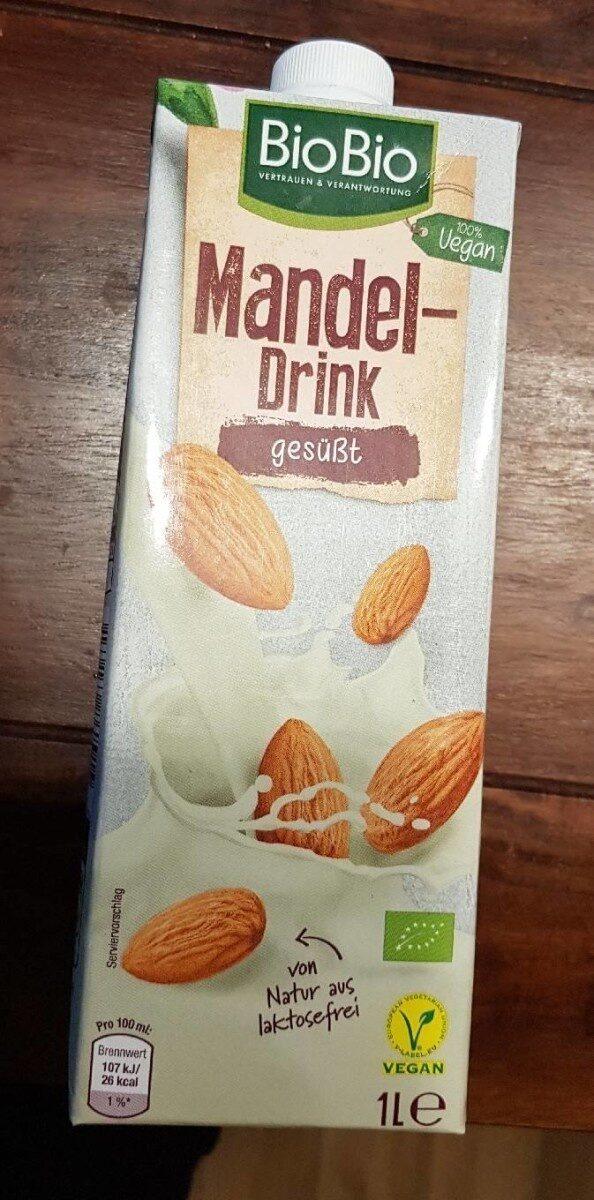 Mandel drink gesüßt - Produit - de