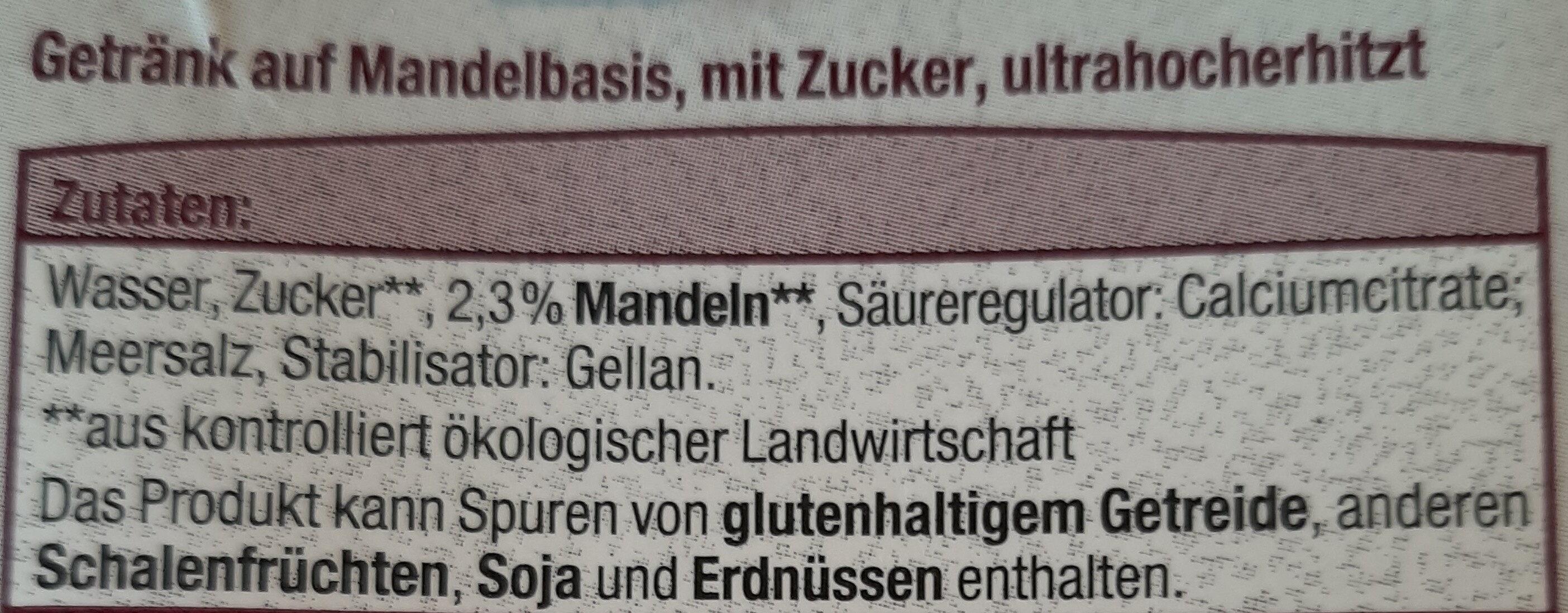 Mandel drink gesüßt - Ingrédients - de