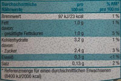Kokos-Reisdrink - Informations nutritionnelles - de