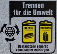Kokos-Reisdrink - Instruction de recyclage et/ou informations d'emballage - de