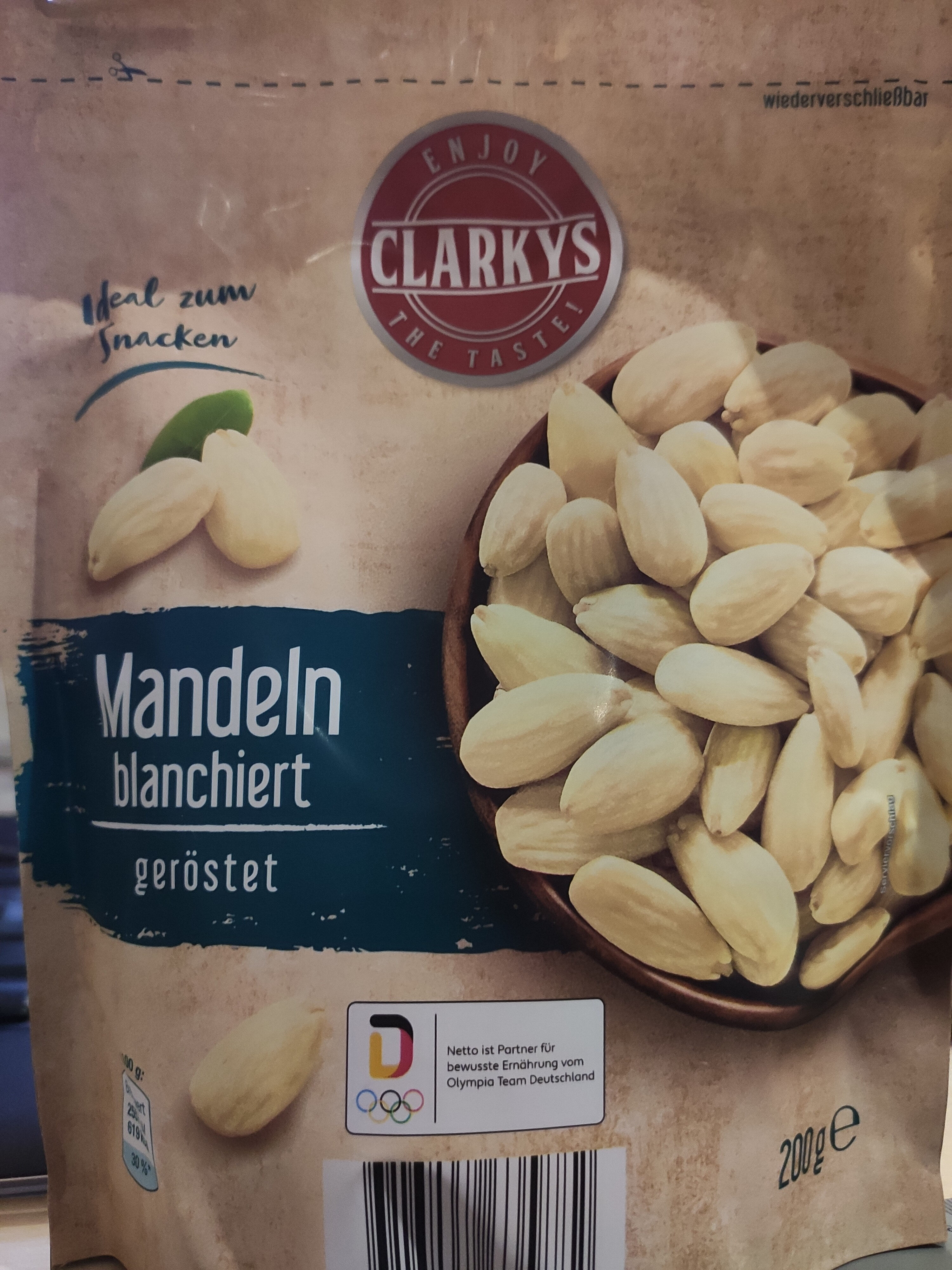 Mandeln blanchiert, geröstet - Product - de