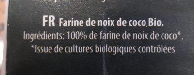 Bio-kokosmehl - Ingrédients - fr