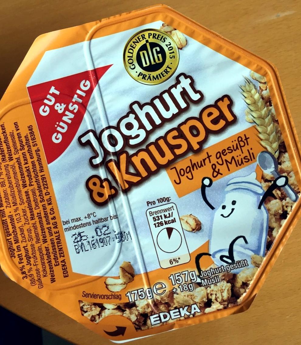 Joghurt & Knusper Joghurt gesüßt & Müsli - Produkt