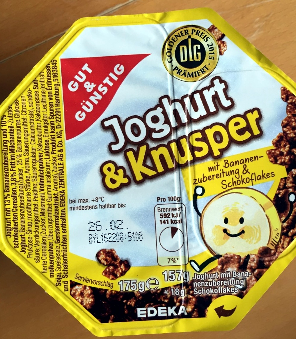 Joghurt & Knusper mit Bananenzubereitung & Schokoflakes - Product