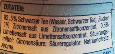Ice Tea, Zitrone Limette - Ingrédients - de