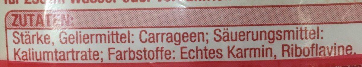Torten guss rot - Ingredienti - fr