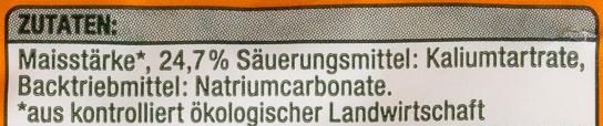 Reinweinstein Backpulver - Ingrediënten