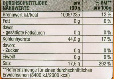 Reinweinstein Backpulver - Voedingswaarden