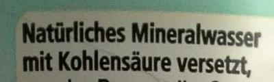 Natürliches Mineralwasser medium - Ingredients