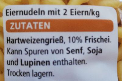 Gabel-Spagetti - Inhaltsstoffe