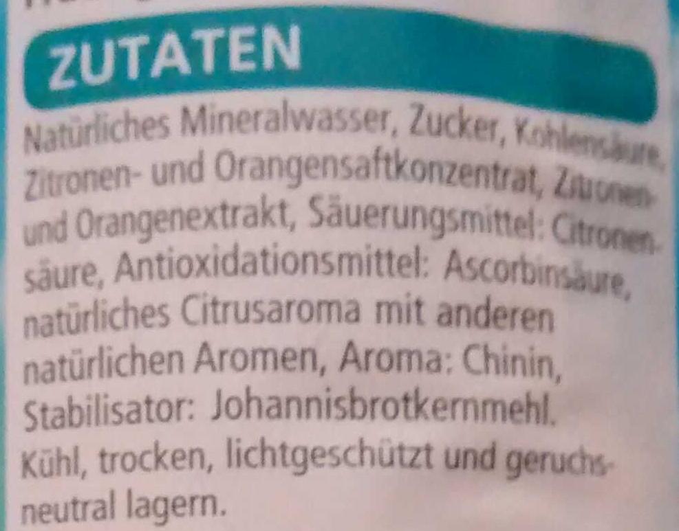 Bitter Lemon - Ingrédients
