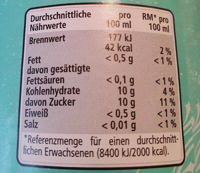 Bitter Lemon - Valori nutrizionali - de