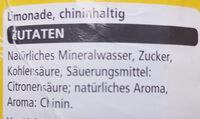 Tonic Water - Ingrédients