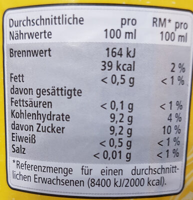 Tonic Water - Nutrition facts