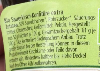 Kirsche extra fruchtig - Ingredients - de