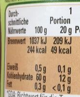 Kirsche extra fruchtig - Nutrition facts - de