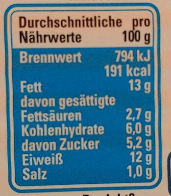 Heringsfilets in Tomaten-Sauce - Nährwertangaben