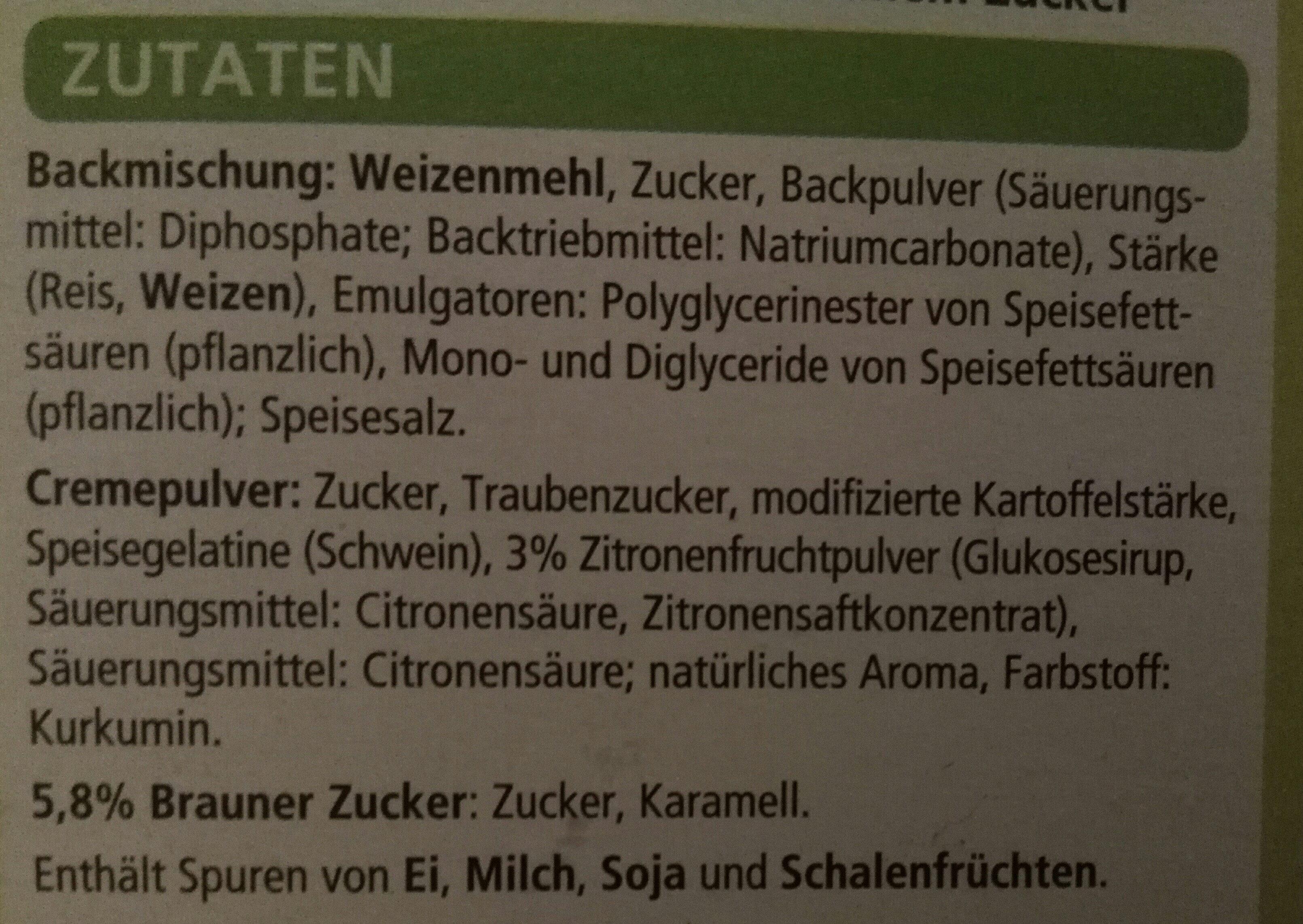 Zitronentorte - Ingrediënten - de