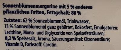 sonnenblumenmargarine - Ingredients