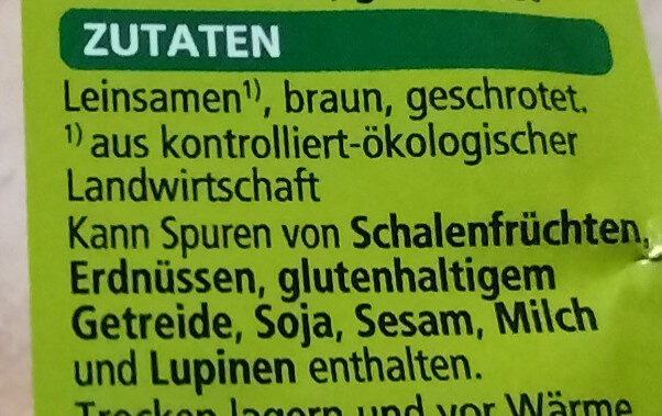 Leinsamen - Ingredienti - de