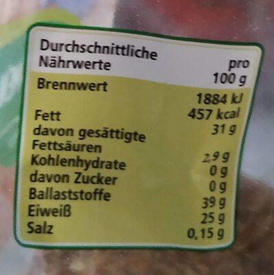 Leinsamen - Valori nutrizionali - de