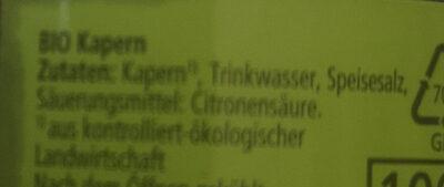 Kapern, mild würzig eingelegt - Ingrédients - de