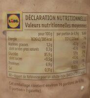 Bio galettes de maïs avec pointe de sel - Informations nutritionnelles - fr