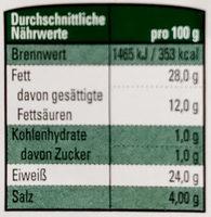 Gourmet Edel-Salami - Voedingswaarden - de