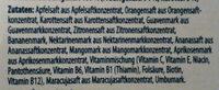 Multivitaminsaft - Ingredients - en