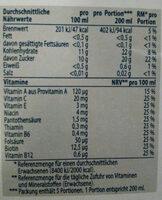 Multivitaminsaft - Nutrition facts - de