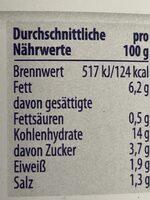 Kartoffelsalat mit Gurken - Nährwertangaben - de