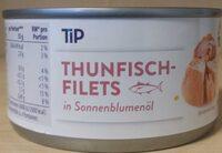 Thunfisch-Filets in Sonnenblumenöl - Produkt - de