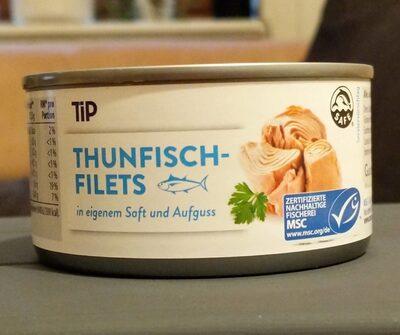 Thunfisch-Filets in eigenem Saft und Aufguss - Produkt - de