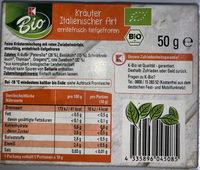 Kräuter Italienischer Art - erntefrisch tiefgefroren - Nutrition facts
