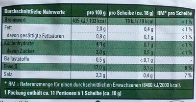 Hähnchenbrust in Aspik - Informations nutritionnelles