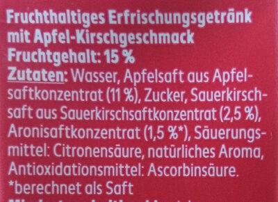 Apfel-kirsch Drink - Ingredienti - de
