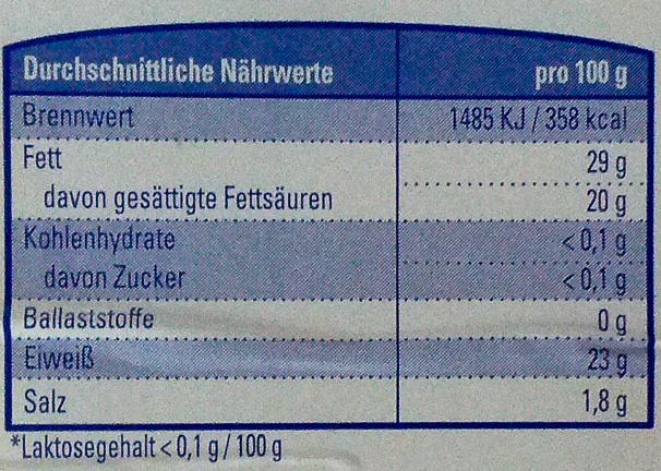 Gouda in Scheiben - Voedingswaarden - de