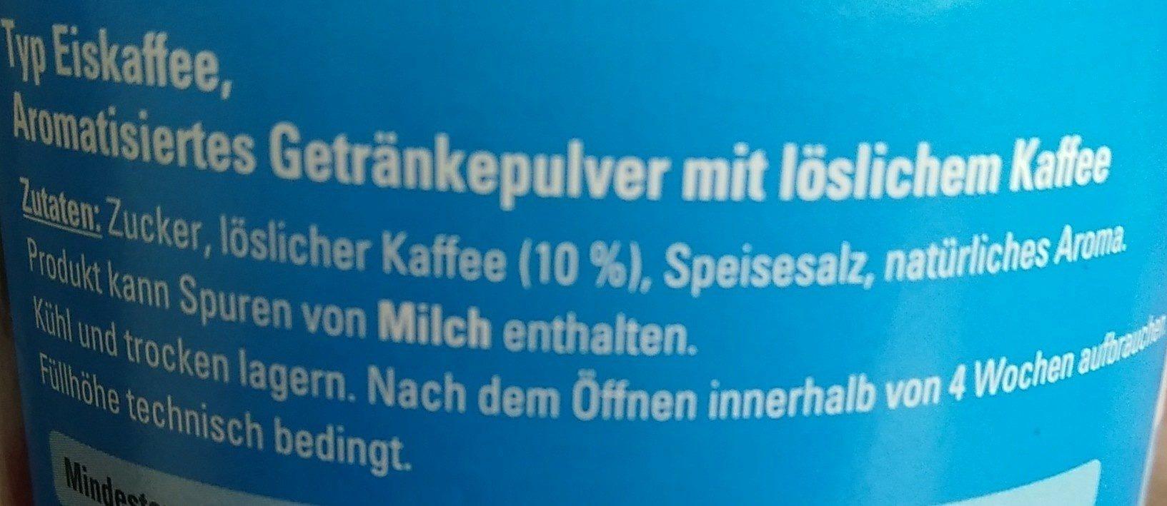 Café allegro Typ Eiskaffee - Inhaltsstoffe