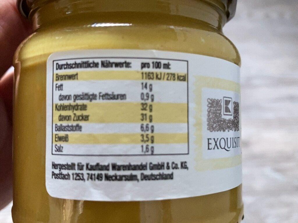 Honig-Senf Sauce - Beslenme gerçekleri - tr