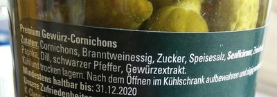 Premium cornichon - Ingrediënten
