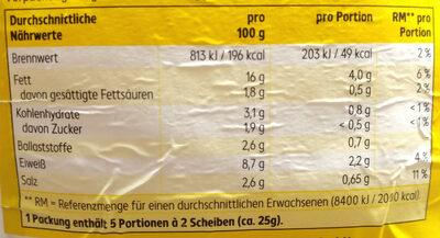 K-take It Veggie Vegetarischer Aufchnitt Fein - Nutrition facts - de