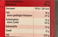 Tofu Hack Bio - Valori nutrizionali - de