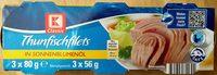 Thunfischfilets in Sonnenblumenöl - Producto