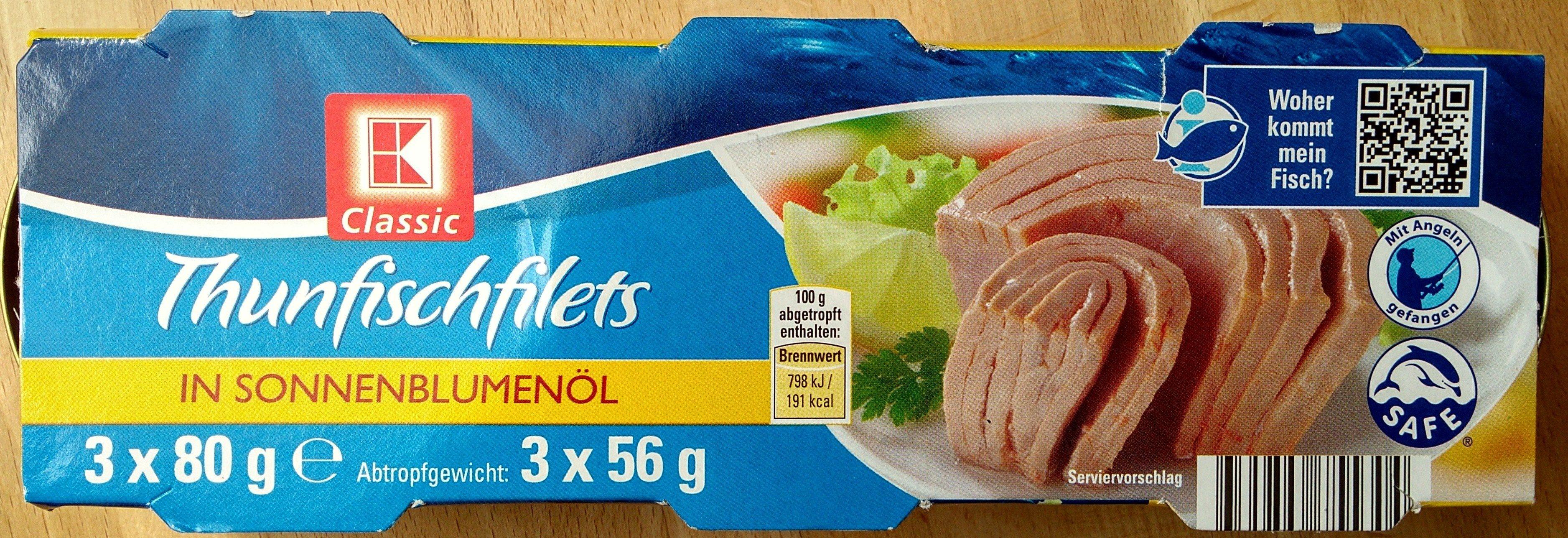 Thunfischfilets in Sonnenblumenöl - Product