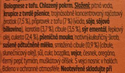 Vegetariánské lasagne - Ingredients - cs