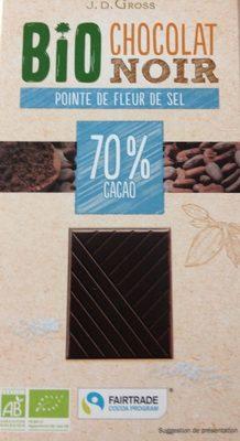 Chocolat noir bio pointe de fleur de sel - Product