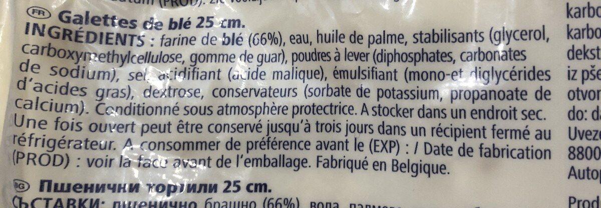 Wraps - Ingrediënten - fr