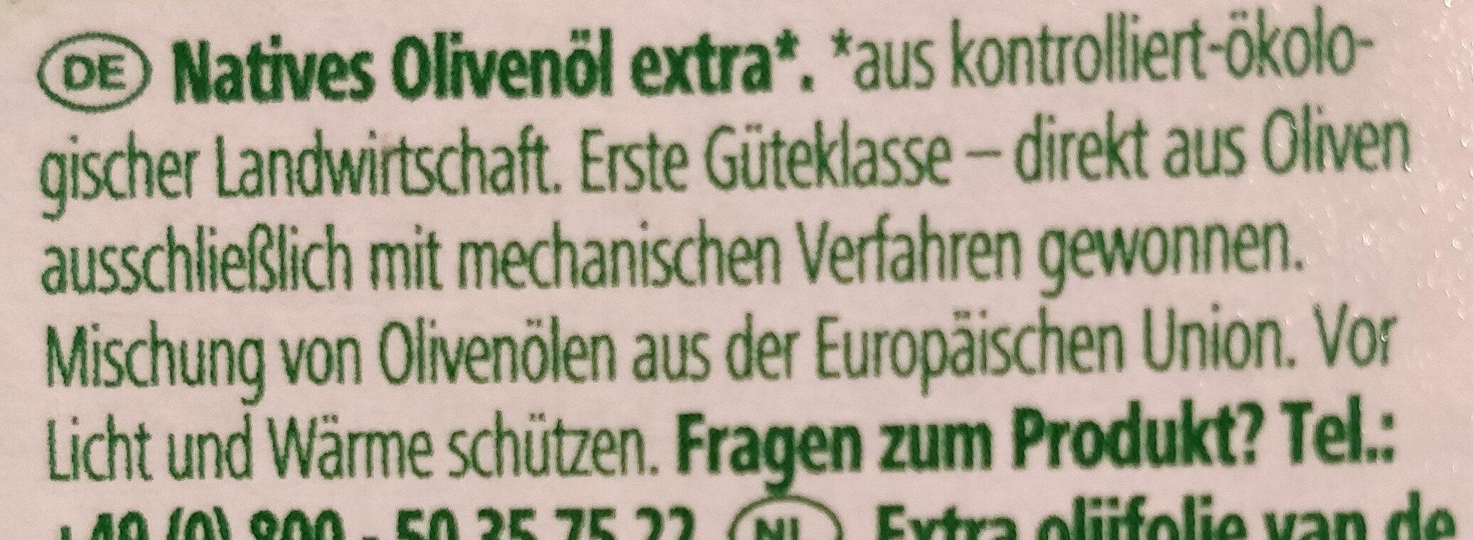 Natives Olivenöl Extra - Zutaten - de